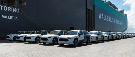 Image: Nå er batteribytte-bilene på vei til Norge